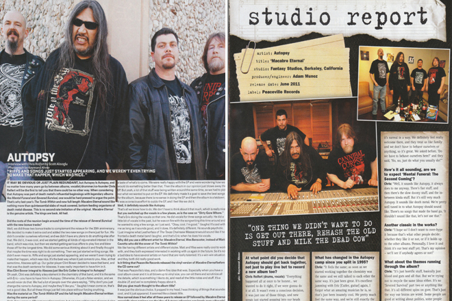 Autopsy. Outburn Magazine Issue 59 Page 22 / Terrorizer Issue 208 Page 14