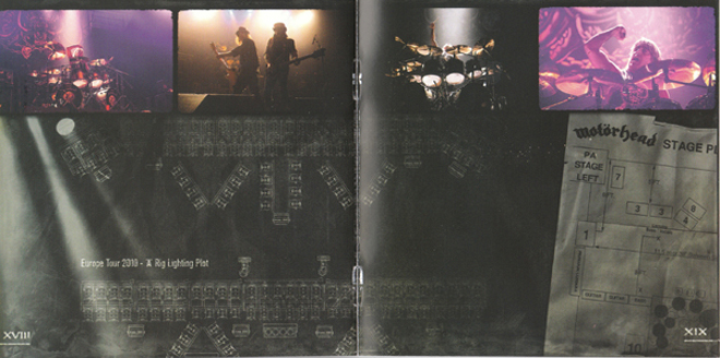 Motörhead 'The World Is Ours - Vol 1' LP, CD, and DVD packaging. Various photos by Raymond Ahner.