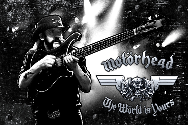 Wallpaper loaded onto the Motörhead USB Dog Tag. Photo by Raymond Ahner.
