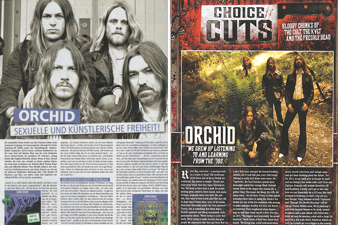 Nuclear Blast Spring Catalog. Page 38. / Terrorizer Magazine Issue 220, Page 20. Photos by Raymond Ahner.
