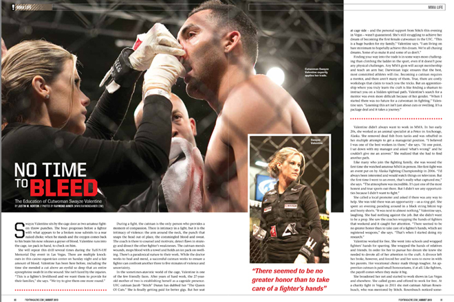 Fight! Magazine - August 2013 Issue. Pages 80 and 81. Fight! Magazine - August 2013 Issue. Photos by Raymond Ahner.