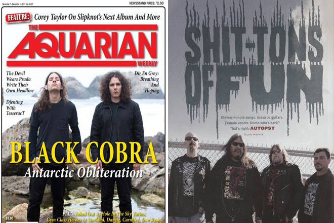 The Aquarian Vol 2-637. Cover. / Decibel Magazine Issue 81 Page 46