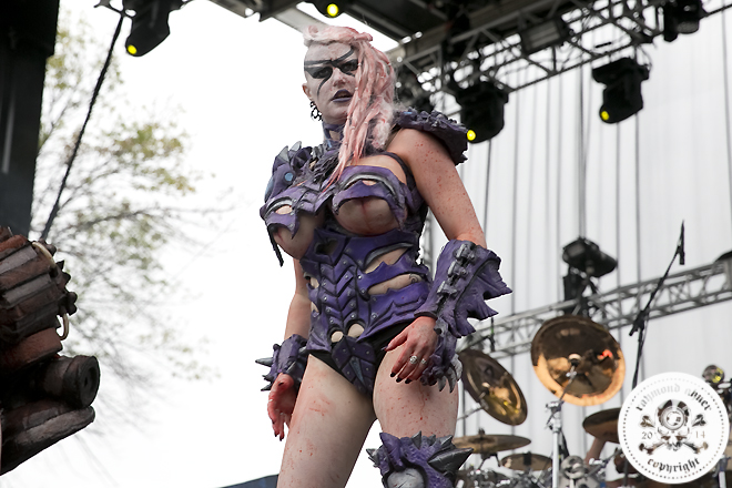 Gwar performs during Day One of Riot Festival on September 12, 2014 at Humboldt Park in Chicago, Illinois